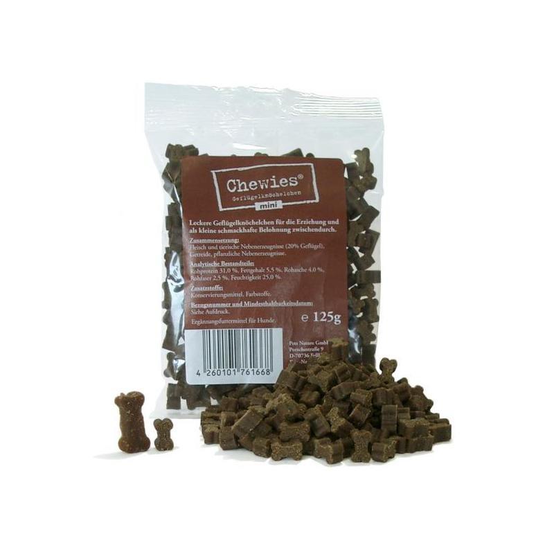 Chewies Geflügelknöchelchen mini 125g Hundesnack