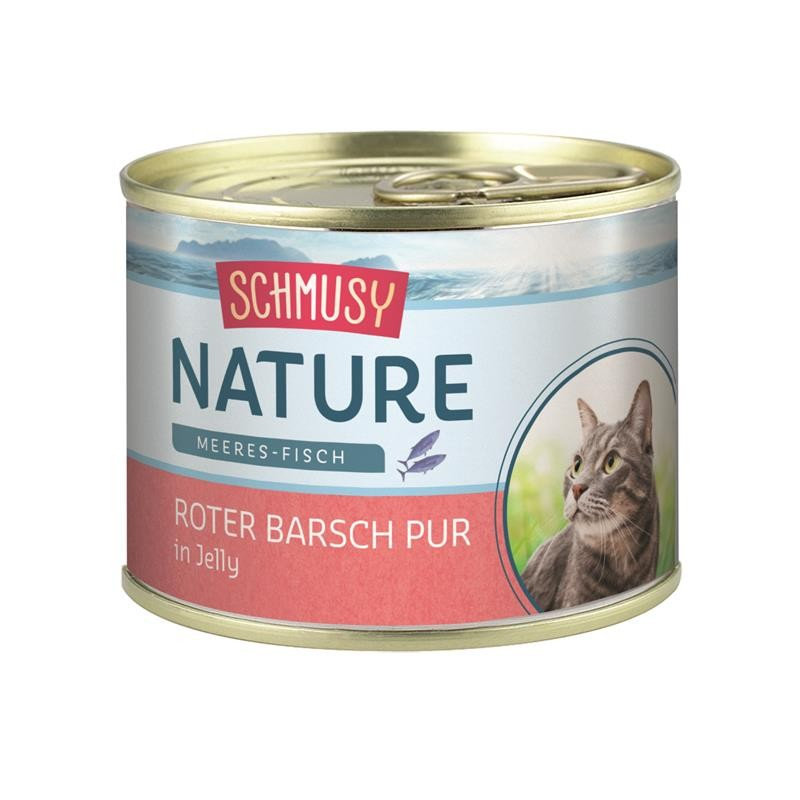 Schmusy Nature Meeres-Fisch Dose Roter Barsch pur 12 x 185g