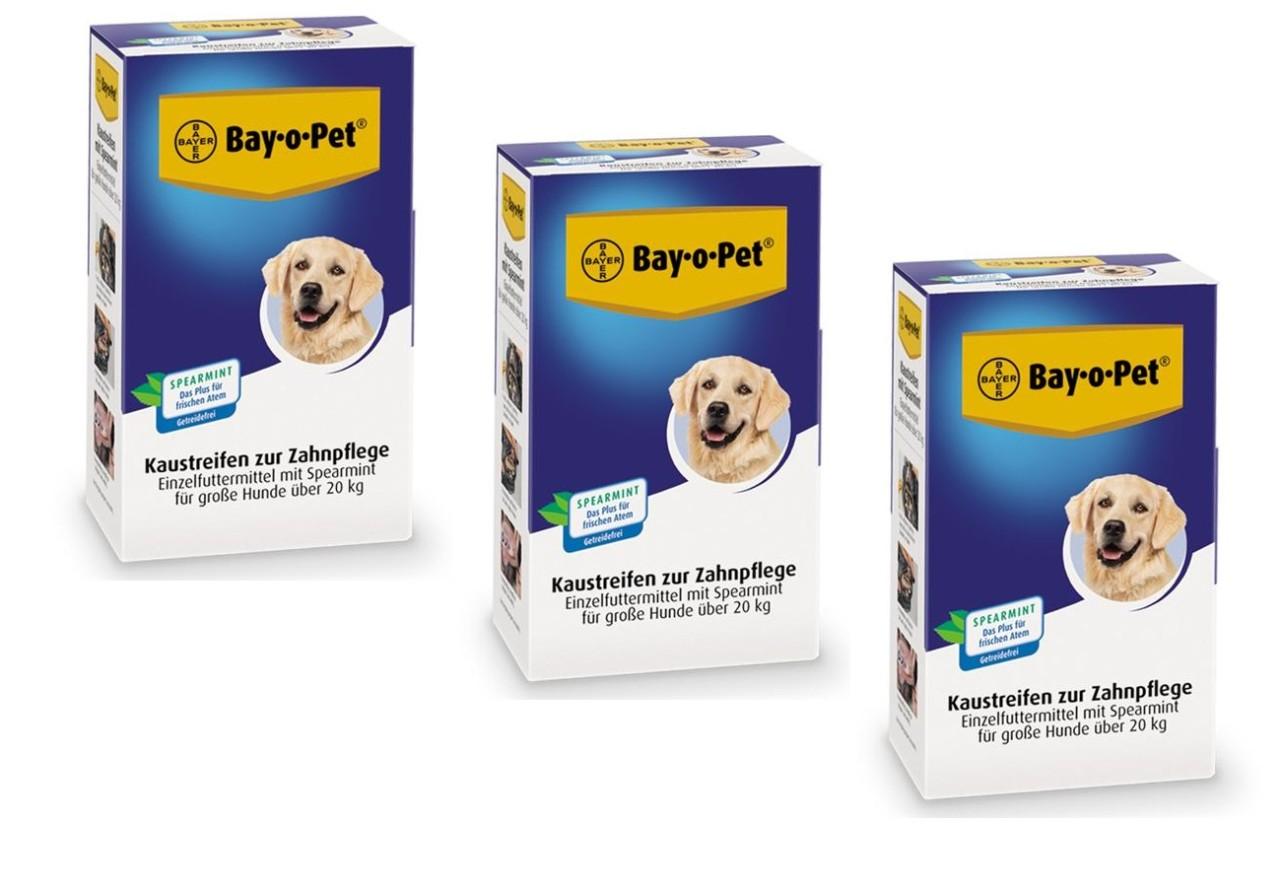 Bay-o-Pet 3 x Kaustreifen mit Spearmint für große Hunde