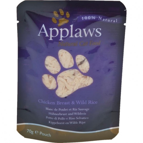 Applaws Cat Pouchbeutel Hähnchenbrust & Wildreis 12 x 70g