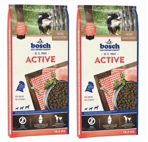 Bosch Active 2 x 15 kg + Dental Goodies 450 g