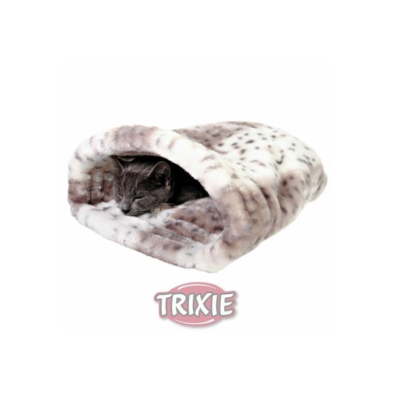 Trixie Katze Kuschelsack Leika beige/weiß 25x27x45cm