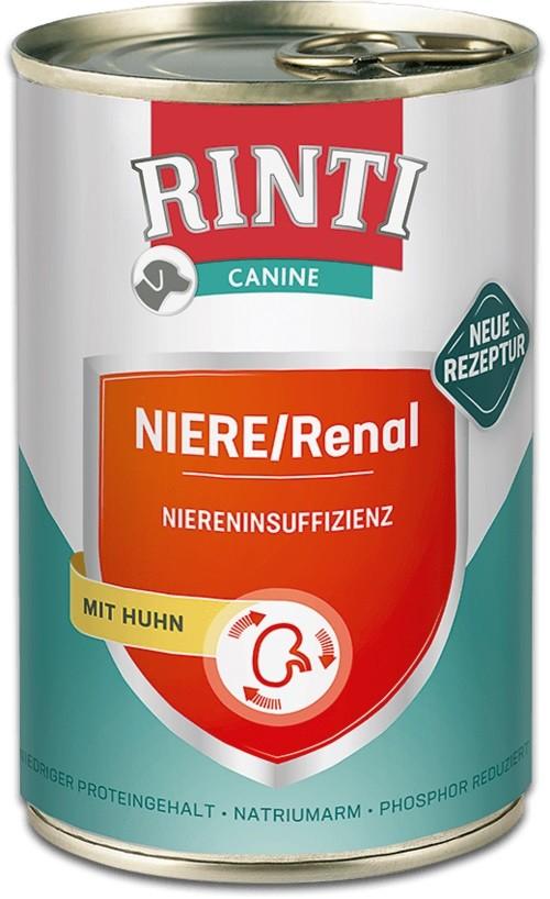 Rinti Canine Niere / Renal Huhn 12 x 400g Dose Hundefutter zur Unterstützung der Nierenfunktion