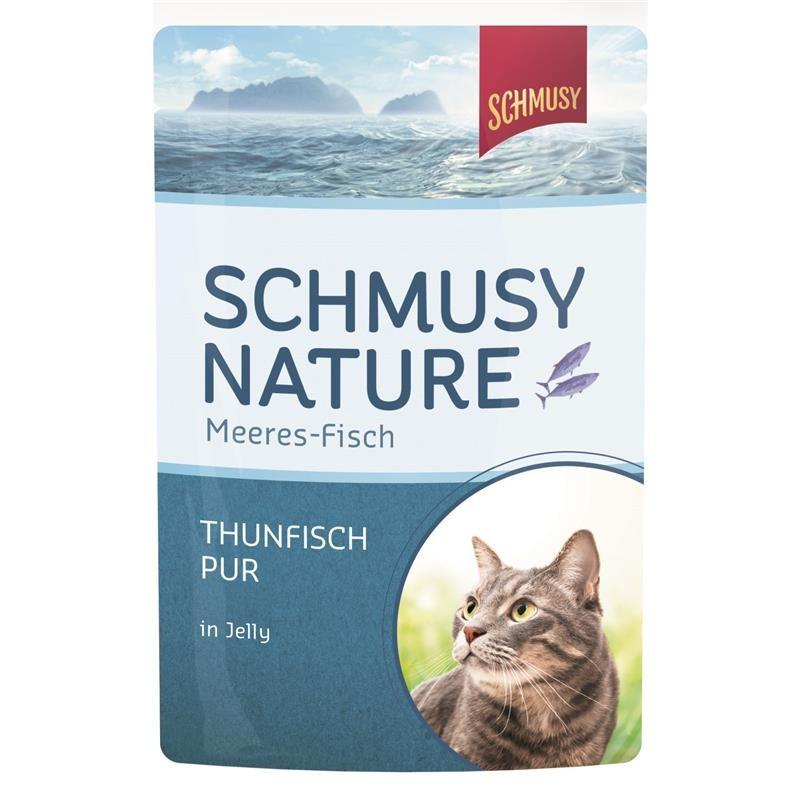 Schmusy Nature Meeres-Fisch Thunfisch pur 24 x 100g Pouchbeutel
