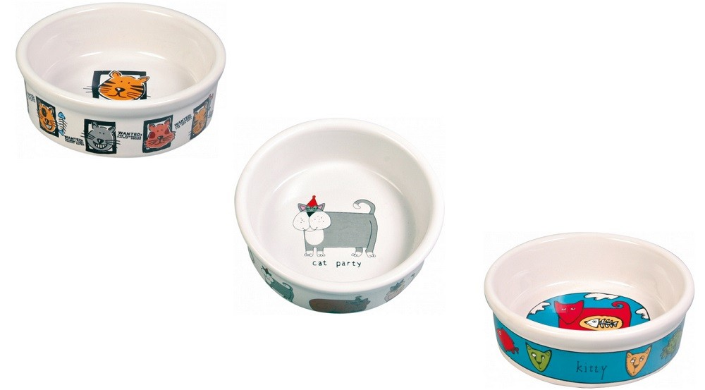 Keramiknäpfe weiß 0,2 l/ø 11 cm Katzennäpfe Trixie 4008