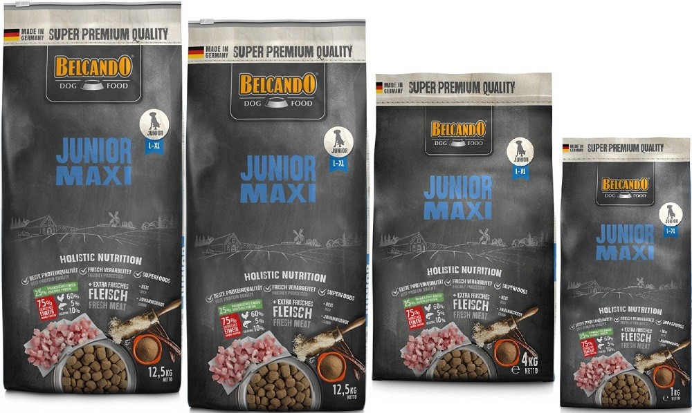 Belcando Junior Maxi 2 x 12,5kg + 4kg + 1kg extra