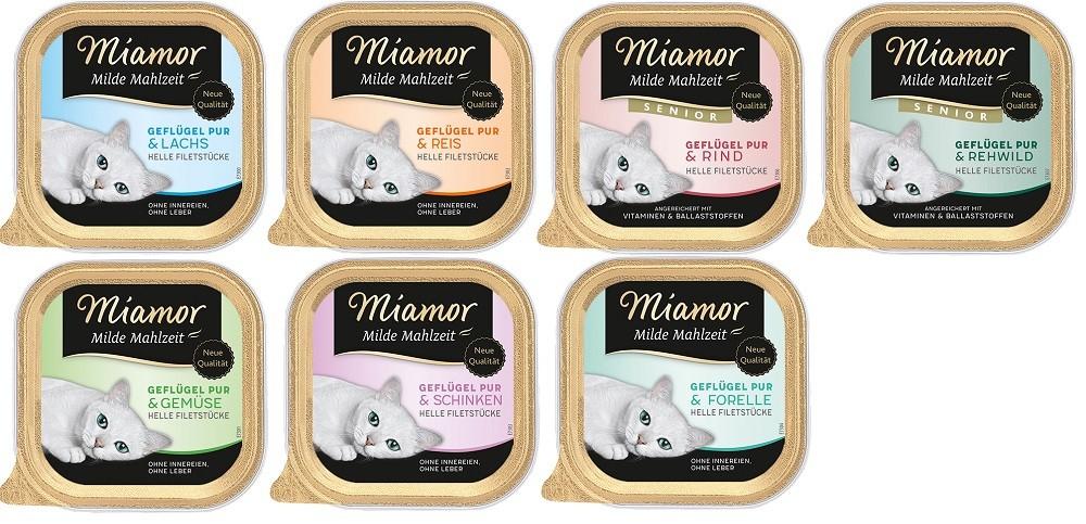 Miamor Milde Mahlzeit 32 x 100g Schale - Sorten frei wählbar