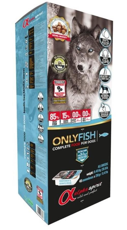 alpha spirit Complete Dog Food Only Fish 9,45 kg