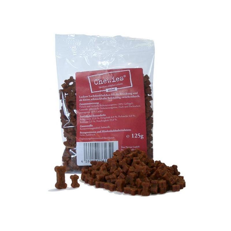 Chewies Lachsknöchelchen mini 125g Hundesnack