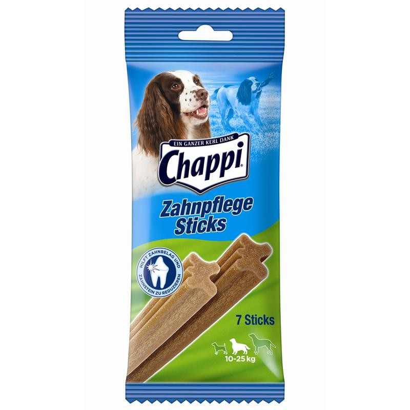 Chappi Snack Zahnpflegestick für mittlere Hunde 10 x 7 Sticks