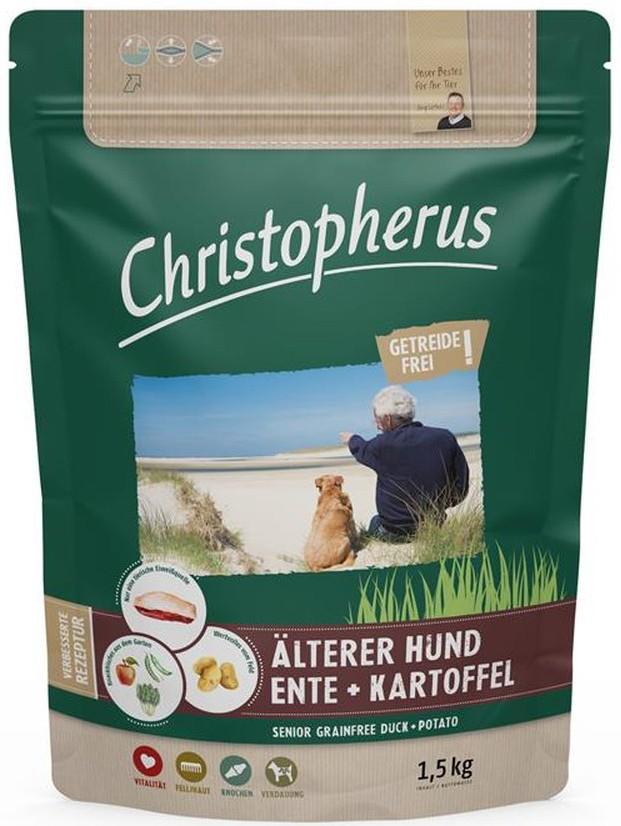 Christopherus Älterer Hund Ente & Kartoffel 1,5 kg getreidefrei