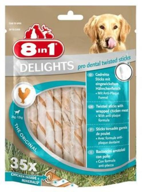 Tetra Dog 8in1 Delights ProDent TwistedSticks 35 Stück