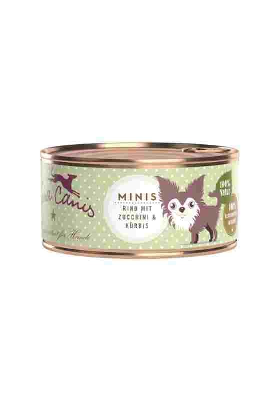 Terra Canis Minis Dose mit Rind Hundefutter 24 x 100g