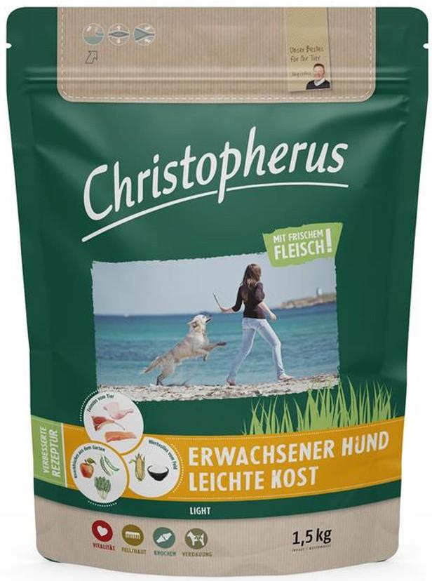 Christopherus Leichte Kost Geflügel & Reis 1,5kg getreidefreies Hundefutter
