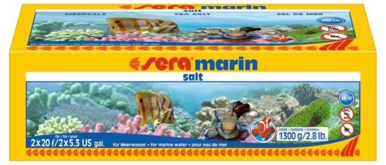 sera marin salt 1300 g Meersalz für Osmose- u. Leitungswasser