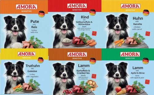 Amora Sensitive 24x400g Dosen Hundefutter Nassfutter