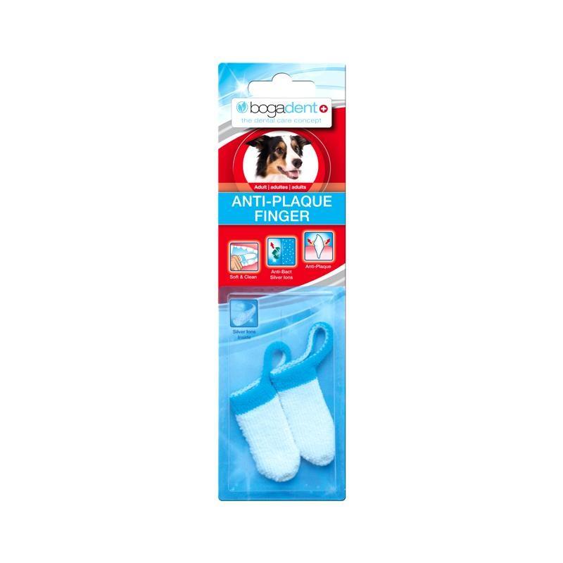 Bogadent Anti-Plaque Finger Adult 2 Stück Zahnpflege Hund