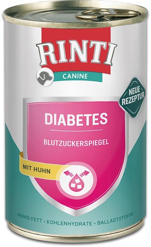 Rinti Canine Diabetes Huhn 12 x 400g Dose Hundefutter zur Regulierung der Glucoseversorgung