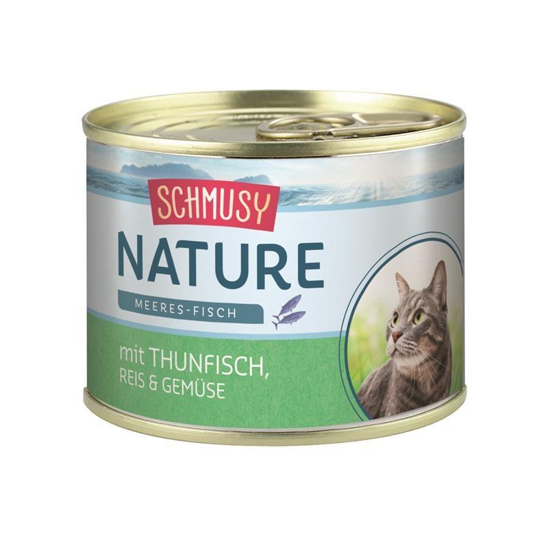 Schmusy Nature Meeres-Fisch Dose Thunfisch, Reis & Gemüse 12 x 185g