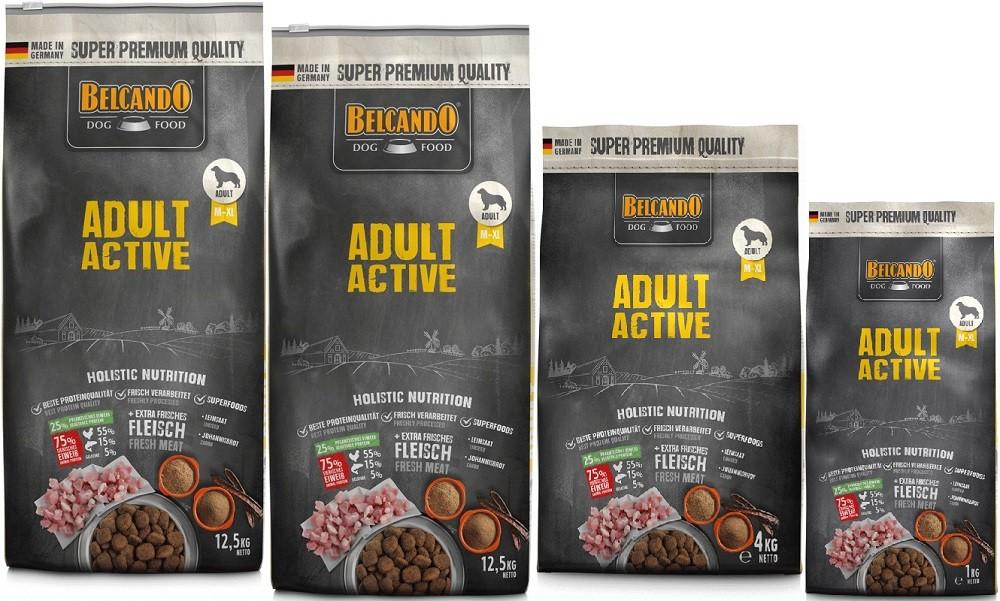 Belcando Adult Active 2 x 12,5kg + 4kg + 1kg extra