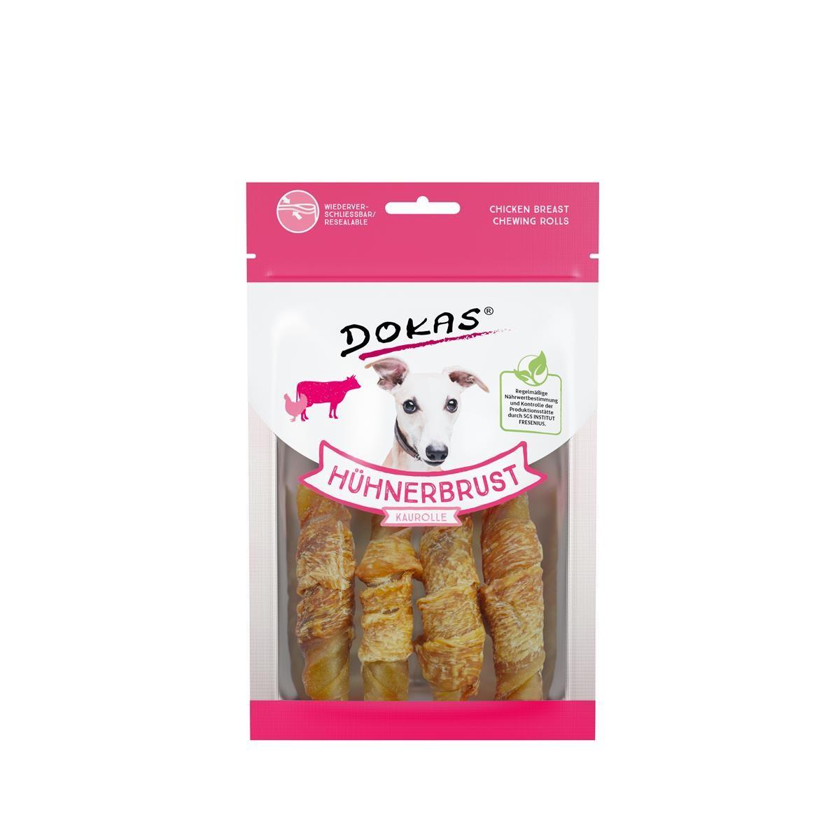 Dokas Dog Snack Hühnerbrust Kaurolle 90g Hundesnack
