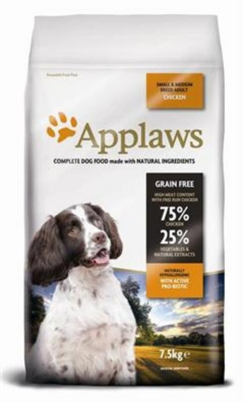 Applaws Dog Adult Small/Medium Breed Huhn & Lamm 7,5kg