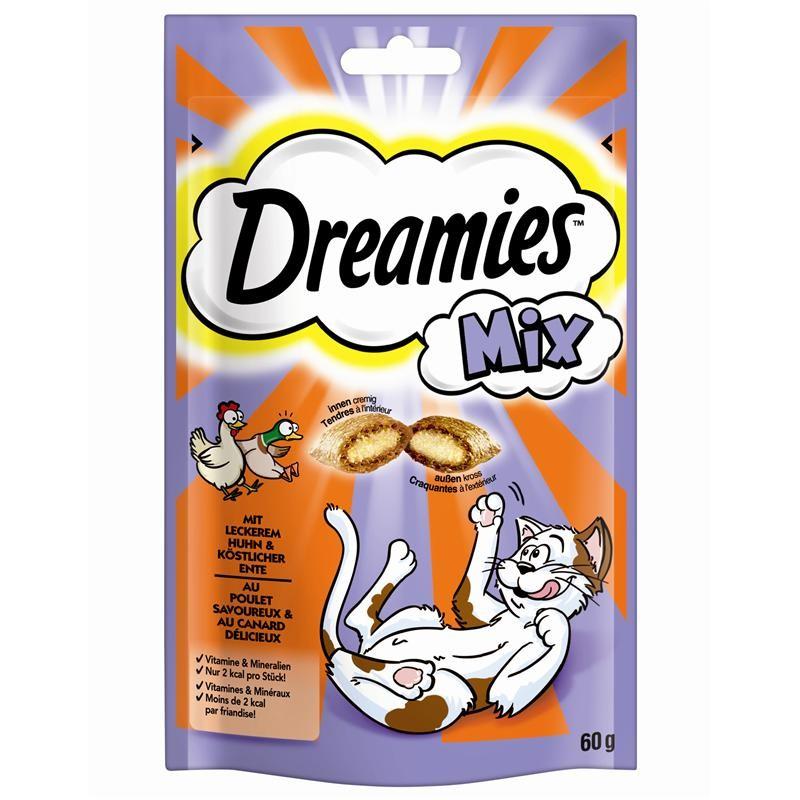 Dreamies Mix mit Huhn & Ente 6 x 60 g Katzensnacks