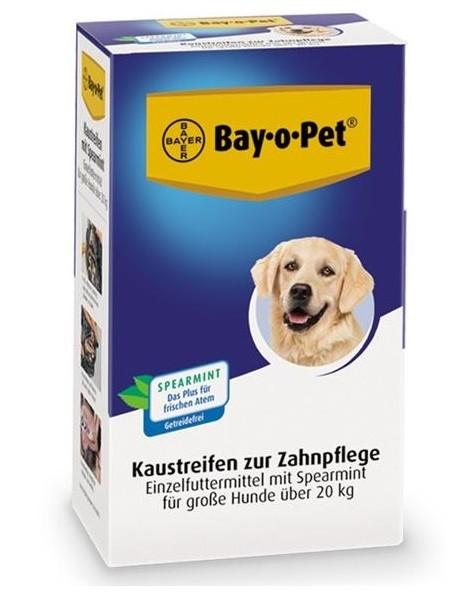 Bay·o·Pet Zahnpflege Kaustreifen Spearmint für große Hunde 140 g