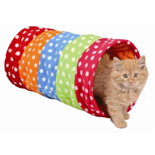 Trixie Spieltunnel Fleece 25 × 50 cm bunt