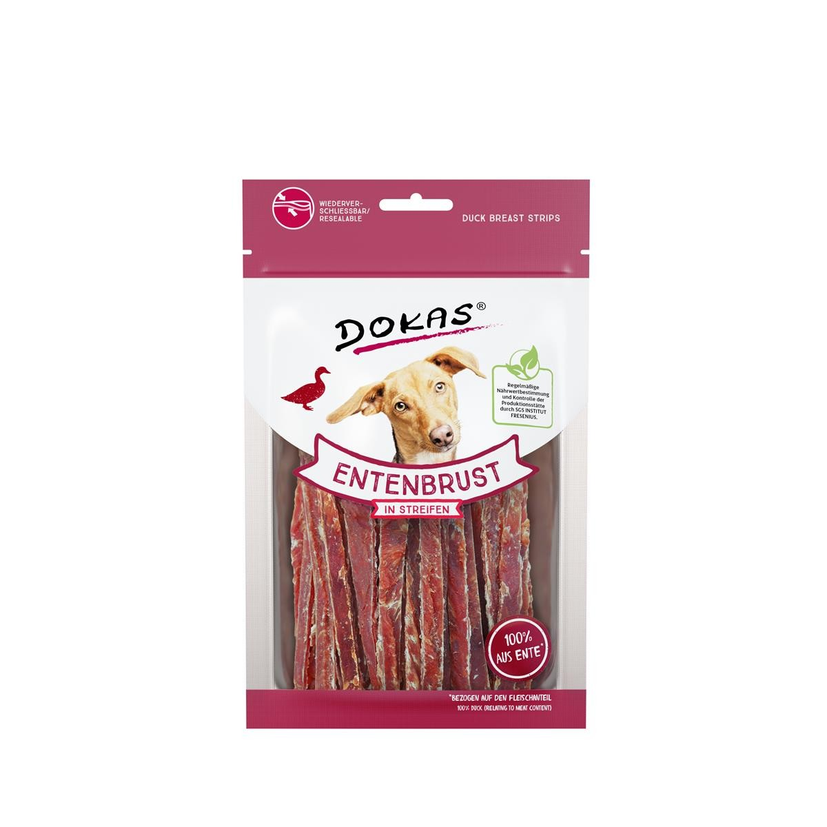 Dokas Dog Snack Entenbrust in Streifen 70g Hundesnack