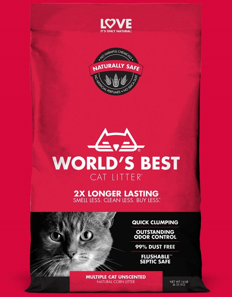 Worlds Best Cat litter ROT multiple cat 3,18 kg Katzenstreu