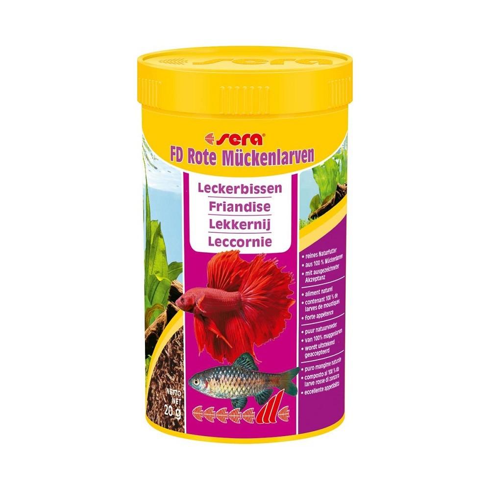 sera FD Rote Mückenlarven 250 ml Fischfutterspezialität