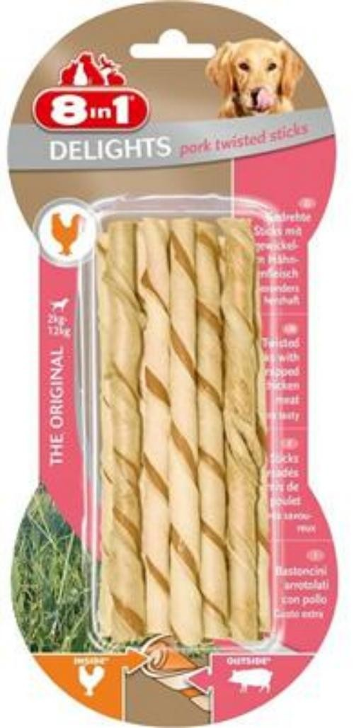 Tetra Dog 8in1 Delights Pork Twisted Sticks 10 Stück