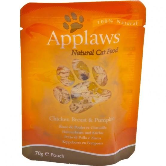 Applaws Cat Pouchbeutel Hühnchen & Kürbis 12 x 70g