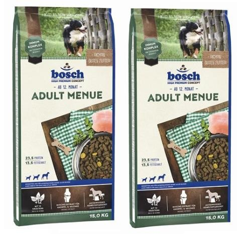 Bosch Adult Menue 2 x 15 kg + Dental Goodies 450 g
