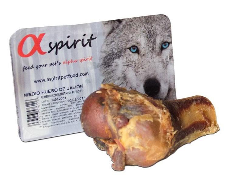 alpha spirit halber Schinkenknochen Kausnack für den Hund