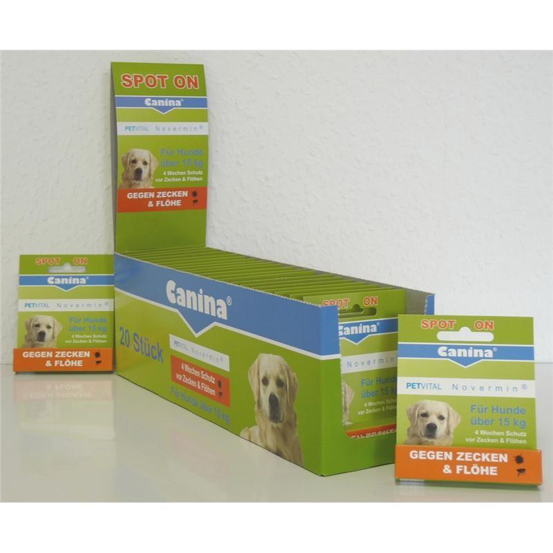 Canina Pharma PETVITAL Novermin für große Hunde 4 ml