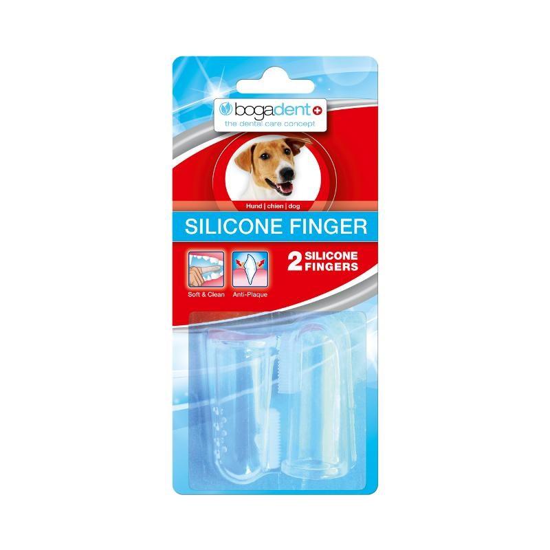 Bogadent Silicone Finger 2 Stück Zahnreinigung für Hunde