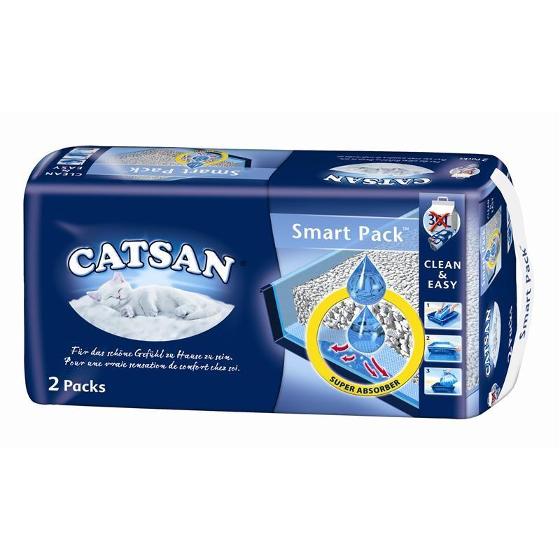 Catsan Smart Pack 2 x 1 Stück Katzenstreu