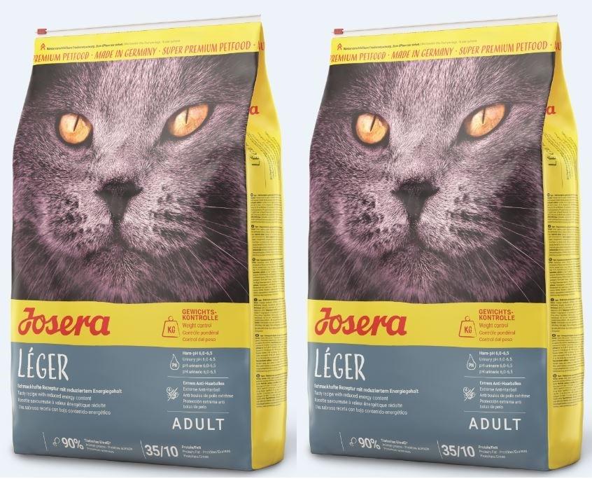Josera Leger 2x10kg für ältere wenig aktive oder zu Übergewicht neigenden Katzen