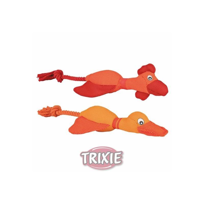 Huhn/Ente mit Seil 38cm Hundespielzeug Trixie 36204