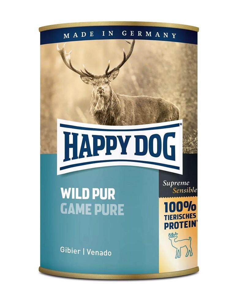 6 x 400g Dose Happy Dog Wild Pur getreidefrei 100% tierisches Protein