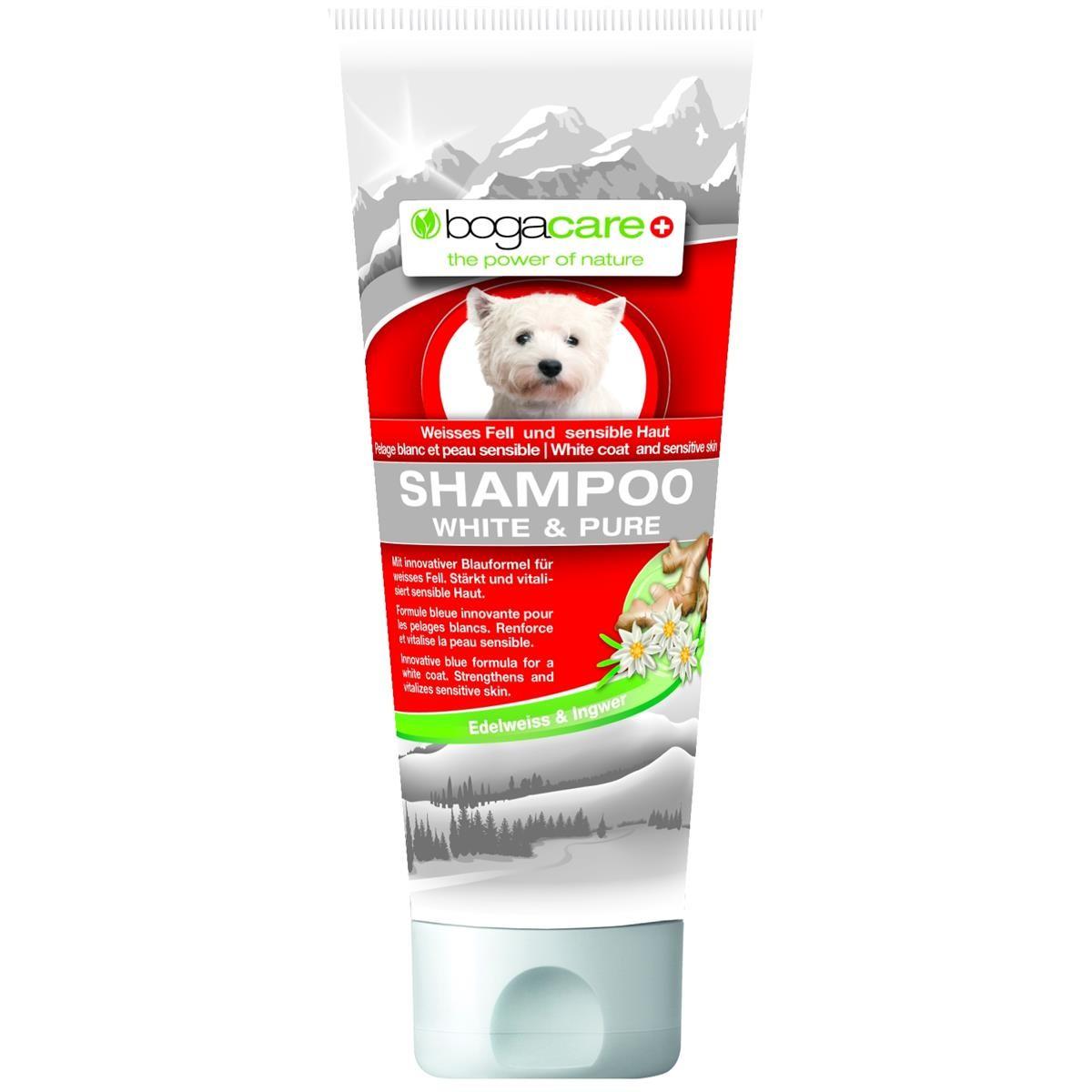 bogacare Shampoo White & Pure 200ml aufhellendes Shampoo für Hunde