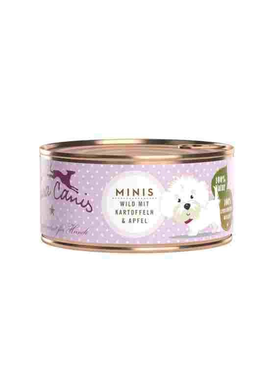 Terra Canis Minis Dose mit Wild Hundefutter 24 x 100g