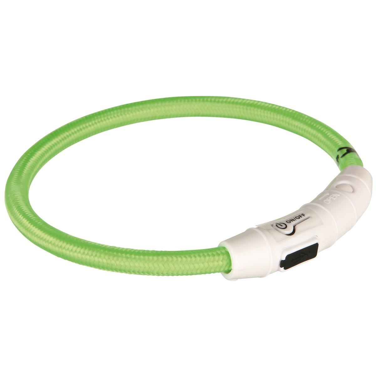 Trixie Flash Leuchtring USB grün L-XL 65cm