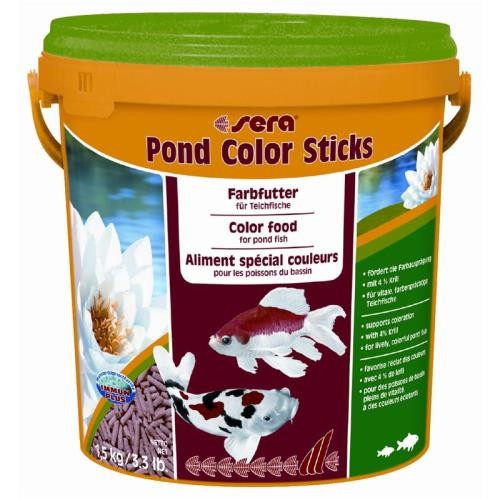 sera pond color sticks 10 Liter Granulatfischfutter