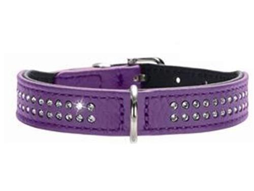 Hunter Halsband Diamond Petit violett/schwarz 30 cm
