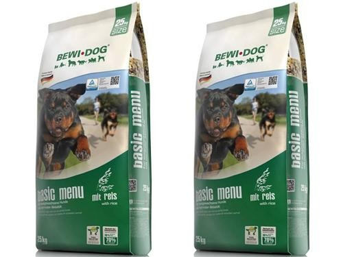 Bewi Dog Basic Menu 2 x 25 kg + 600 g Agility Snack extra