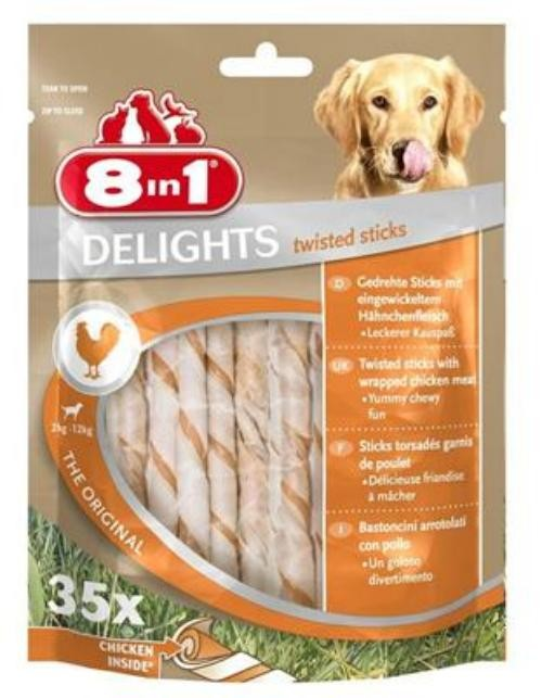 Tetra Dog 8in1 Delights Twisted Sticks 35 Stück
