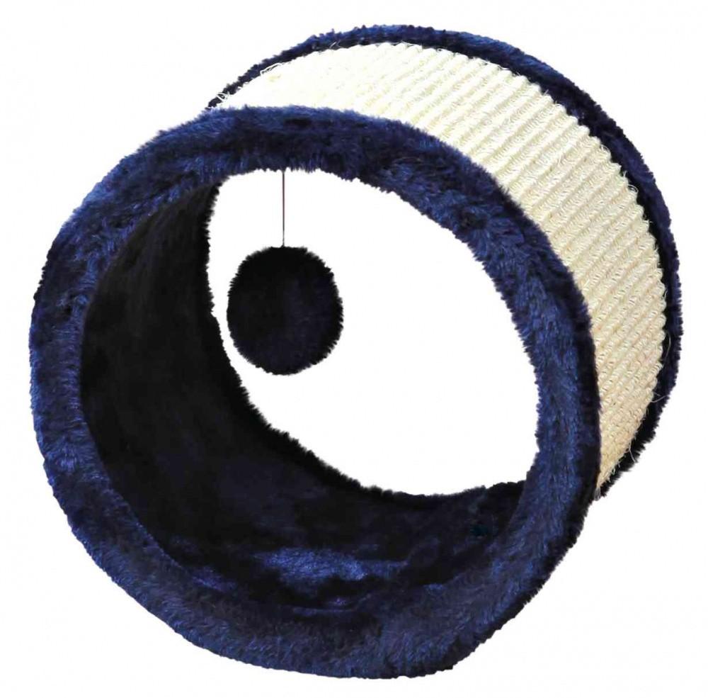 Spielrolle für Katze Sisal Plüsch 23 x 20 cm blau von Trixie Kratzrolle